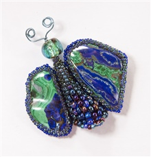 Cabochon Butterfly Brooch