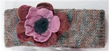 Variegated Rust and gray FLoral headband