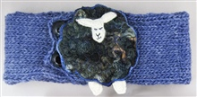 Blue Headband with Black Sheep