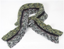 Gray Green Knit Scarf